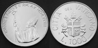 1983 Vatican 1000 Lire Silver Coin B/U Thumbnail