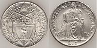 1942 Vatican City 1 Lira Thumbnail