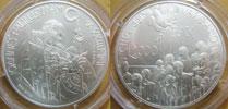 2001 Vatican 2000 Lire Silver BU Coin Thumbnail