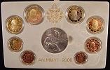 2006 Vatican Proof Set, 8 Euro Coins Thumbnail