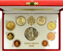 2008 Vatican Mint Set, 8 Euro Coins PROOF Thumbnail
