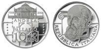 2008 Italy 10 Euro Andrea Palladio Coin Thumbnail
