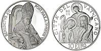 2008 Vatican 10 Euro Coin WORLD PEACE DAY Thumbnail