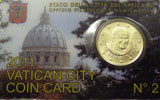 2011 Vatican Coin Card, 50 Eurocent Thumbnail