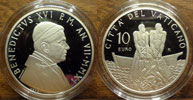 2011 Vatican 10 Euro Anniversary of Priesthood Thumbnail
