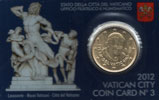 2012 Vatican Coin Card, 50 Eurocent Thumbnail