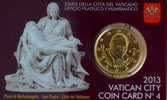 2013 Vatican Coin Card, 50 Eurocent Thumbnail