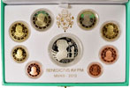 2013 Vatican 8 Euro Coin PROOF Set: Giuseppe Verdi Thumbnail