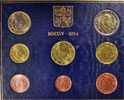 2014 Vatican Coin Set, 8 Euro Coins BU Thumbnail