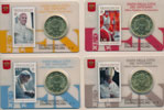 4 Vatican 2015 Coin & Stamp Cards of Pope Francis Thumbnail