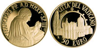 2015 Vatican 50 Euro Gold: Pontifical Shrine Thumbnail