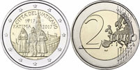 2017 Vatican 2 Euro Apparition of Fatima BU Thumbnail