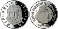 2008 Italy 5 Euro Silver Coin ANNA MAGNANI Thumbnail