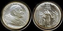 1997 Vatican 500L Silver Commemorative BU Thumbnail