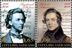2010 Vatican Stamps Chopin & Schumann Thumbnail