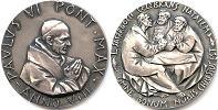 Paul VI (1963-78) Anno VIII Silver Medal Thumbnail