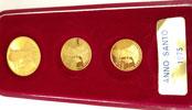 Paul VI 1975 Anno Santo Gold Medal Trio Thumbnail