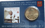 2012 Vatican Coin + Stamp Card John Paul I Thumbnail