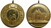 Leo XIII (1878-1903) St. Peter's Basilica 51mm Thumbnail
