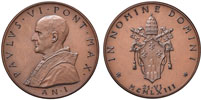 Paul VI (1963-78) Anno I Election Bronze Medal Thumbnail