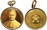 Pius X Sepia Picture Medal Pendant 1903 Thumbnail