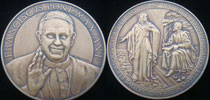 Pope Francis Anno I Bronze Medal Thumbnail