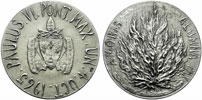 Paul VI 1965 U.N. Visit Official Silver Medal Thumbnail