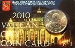 2010 Vatican Coin Card, 50 Eurocent Thumbnail