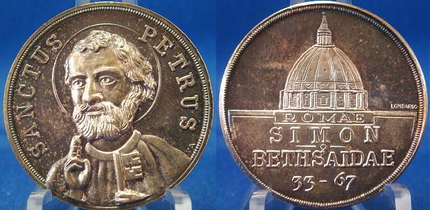 St. Peter (33-67) Silver Medal c.1955 Photo