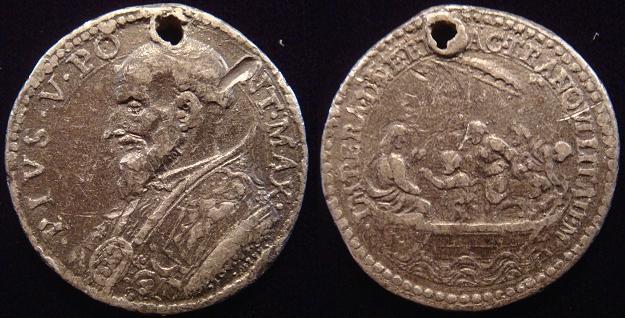 Pius V (1566-72) Jesus Calms the Storm Medal Photo