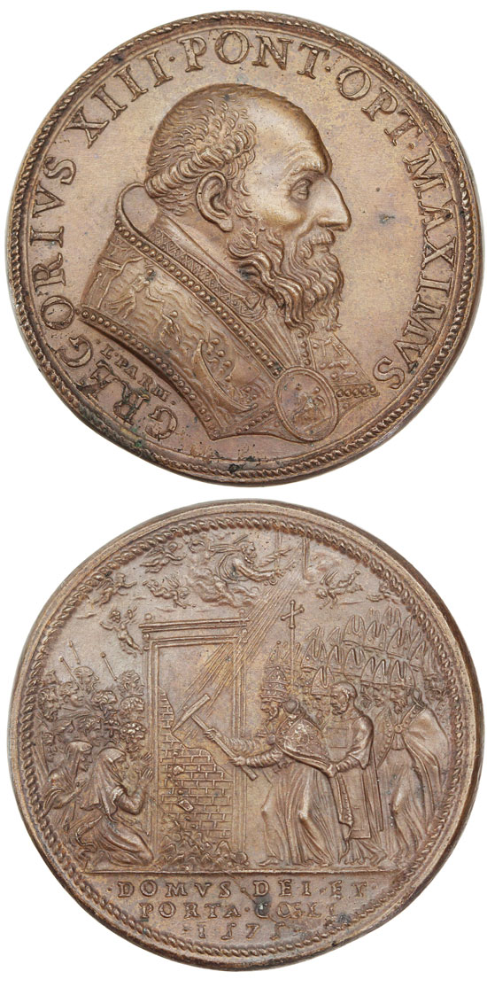 Gregory XIII 1575 Opening Holy Door Photo