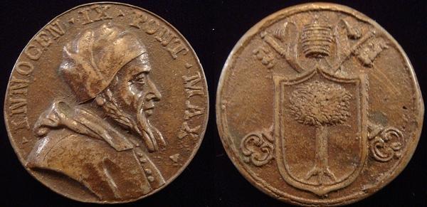 Innocent IX (1591) Bronze Medal by G.B. Pozzo Photo