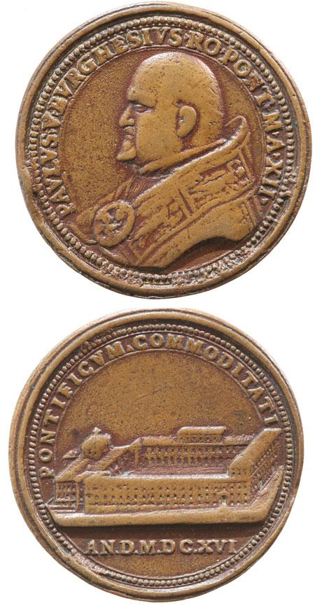 Paul V (1605-21) Quirinal Palace Medal Photo