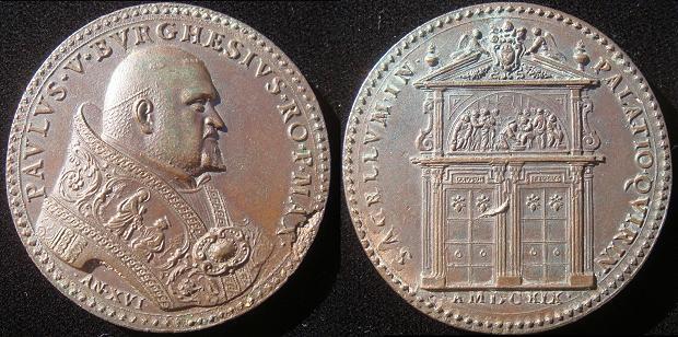Paul V (1605-21) Chapel Quirinal Palace Medal 48mm Photo
