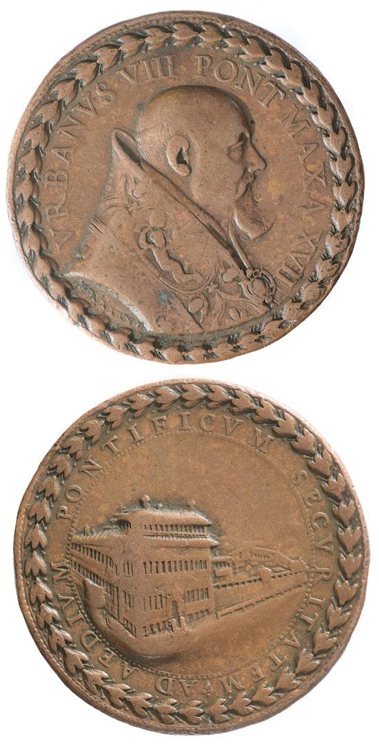 Urban VIII 1640 Medal Quirinale Palace ORIGINAL Photo