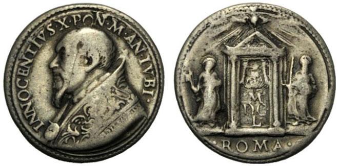 Innocent X 1650 Holy Door Silver Medal Photo