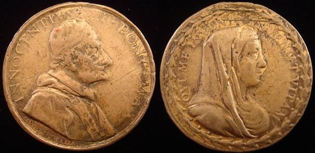 Innocent XI (1676-89) Blessed Virgin Mary Medal Photo