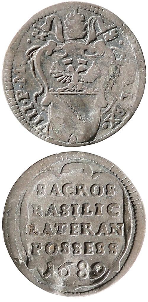 Alexander VIII 1689 1/2 Grosso Lateran Possession Photo