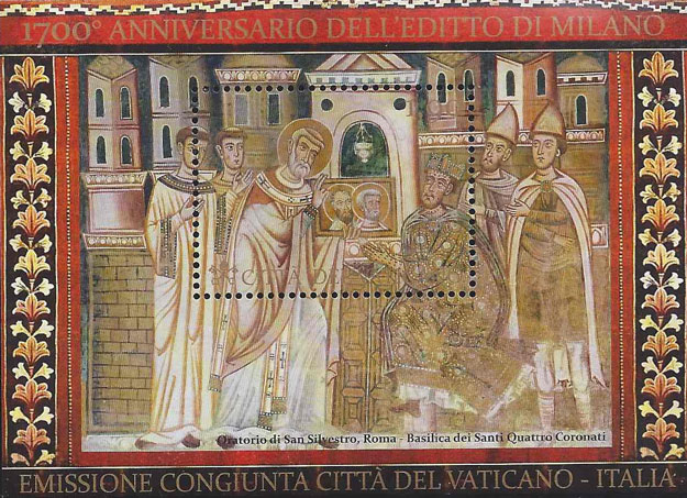 1700th Anniversary Edict of Milan Souvenir Sheet Photo