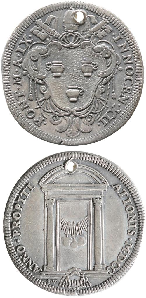 Innocent XII 1700 Testone, Holy Door Photo