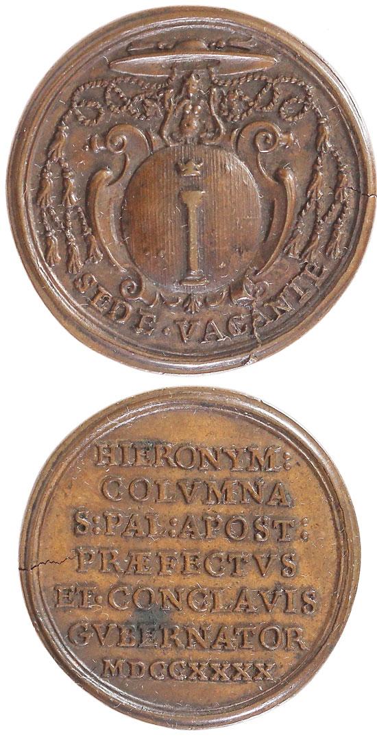 1740 Sede Vacante Prefect Medal Photo
