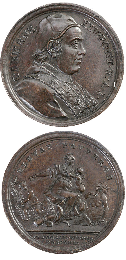 Clement XIV 1769 Charity Medal Photo