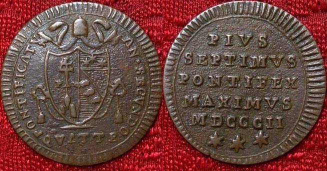 Pius VII 1802 Copper Quattrino Photo