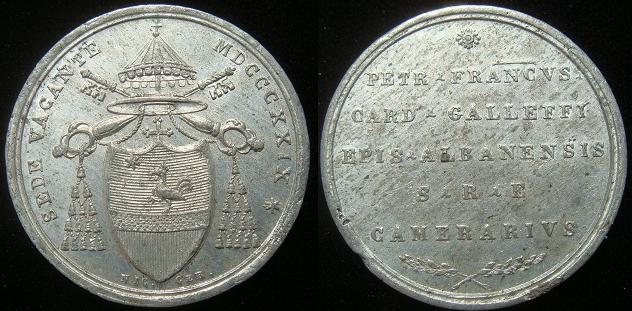 1829 Sede Vacante Camerlengo Medal Photo