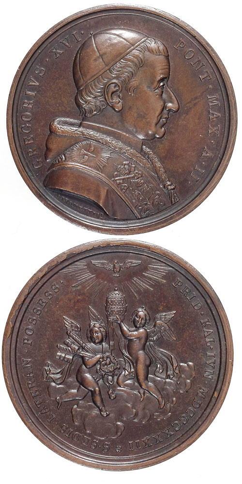 Gregory XVI 1832 Possession of Lateran Medal Photo