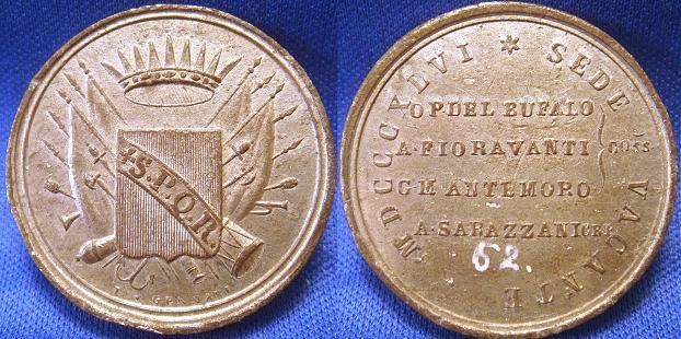 Sede Vacante 1846 Medal Citta di Roma Photo