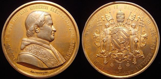 Pius IX 1869 Ecumenical Council Medal 50.5mm Photo