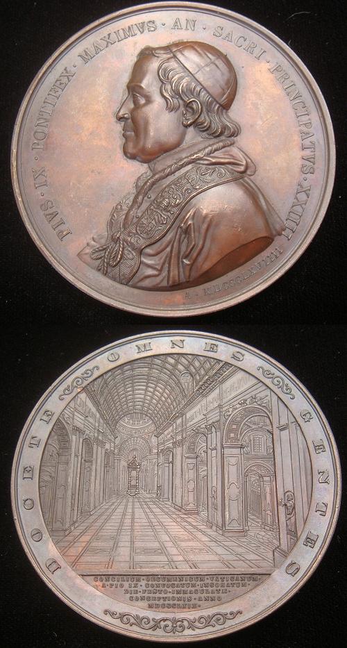 Pius IX 1869 Opening Ecumenical Council 73mm Photo