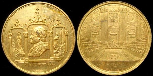 Pius IX 1869 First Vatican Council Medal Photo