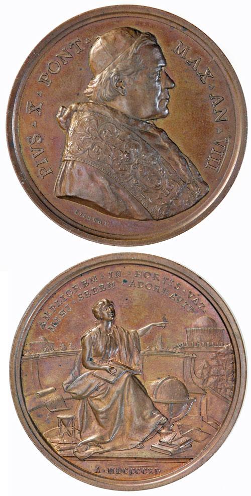 Pius X (1903-14) Anno VIII Bronze Medal Photo